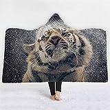 FacaiNICE Cartoon 3D Digital Printing Hooded Blanket Cloak Magic hat Blanket,Nap Blanket,Hat Blanket air...