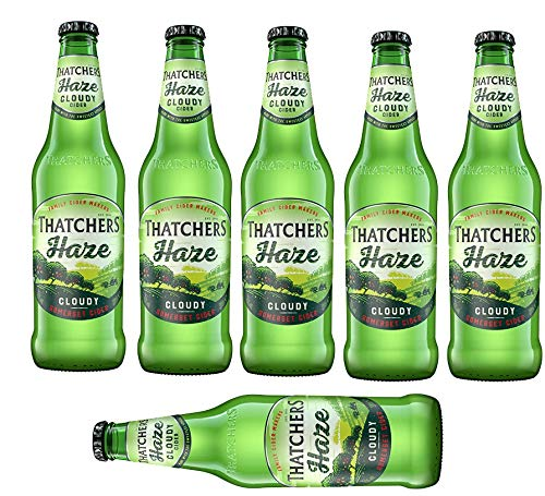 6 Flaschen Thatchers Haze Cloudy English Cider a 500ml 4,5% Vol. Apfelwein Thatcher´s