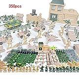 SioHopio 350 Paquete De Juguetes Militares para Niños, Accesorios De Armas del Ejército Militar Personalizados, Modelo De Soldado DIY, Paquete De Asalto Moderno, Herramientas, Regalo para Niños