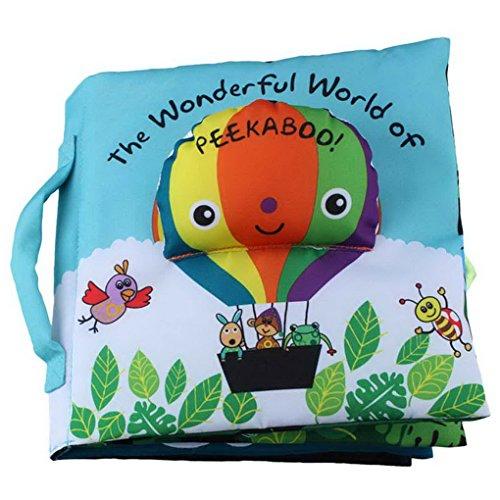 Happy Cherry- Livre en Tissu Souple Pour Bébé intelligence cognitive Préscolaire Visuelle Jouet d'éducation Mot en anglais Jouet Premier Livre-Ballon