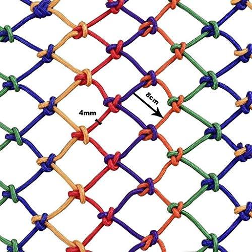 ACZZ Rope Net Net Splitterschutz Hängen Kletternetz Balkon Treppenhaus-Fenster-Netz Balkon Zaungitter Treppen Nylon Net Sicher Klettern Haushalt Farbe,Blau