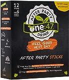 one:47 ® After Party Drink   12 Sticks   Elektrolyte Recovery Drink mit Vitamin C, Vitamin B1 + B2 + B6, Folsäure, Magnesium und Zink   Mit Ingwer, Acerola, Kaktusfeige