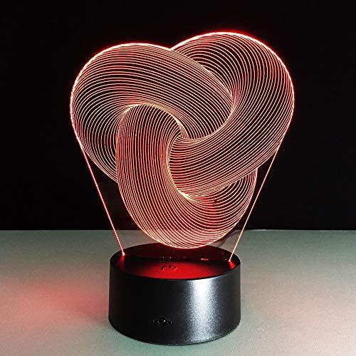 Jiushixw 3D-polshorloge, driedimensionaal, kleurverandering, nachtlampje met afstandsbediening, klein, vierkant, bureau-polshorloge, grappig cadeau voor kinderen, wit, tafellamp statief