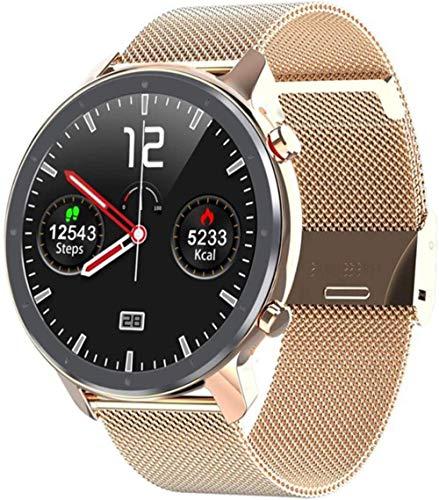 Reloj inteligente para hombre y mujer con monitor de frecuencia cardíaca, reloj inteligente con función de todas las ruedas