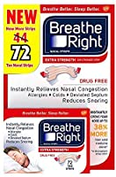 Breathe Right Extra Strength Nasal Strips, 72 Count [並行輸入品]