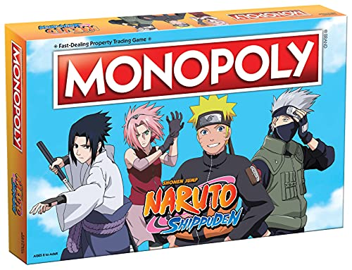 Monopoly Naruto   Collectible Monopoly Game Featuring Japanese Manga Series   Familiar Locations and Iconic Moments from The Anime Show