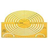Lunji Ellipses - Plantillas de dibujo (tamaño grande), diseño de regla isométrica...