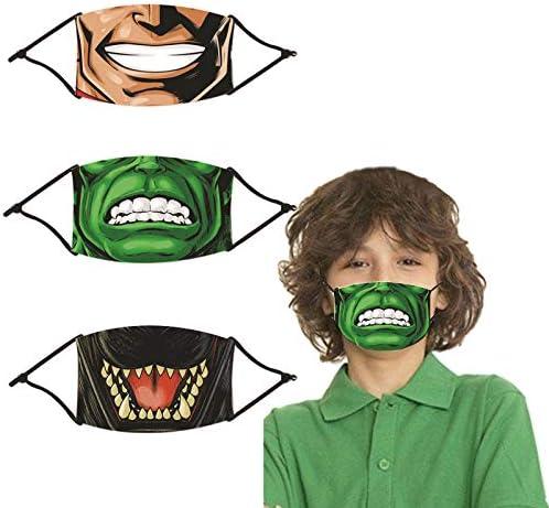 3Pcs Super Hero Kids Face Hero Mask Adjustable Headwear Party Idea product image