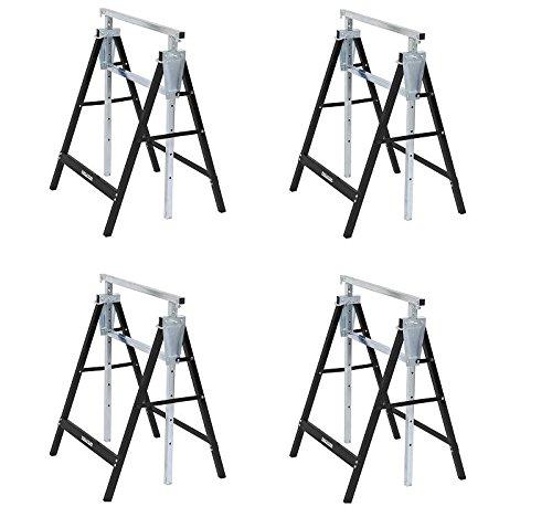 4er Set Gerüstböcke Klappböcke Unterstellbock höhenverst. 80-130 cm 180 KG