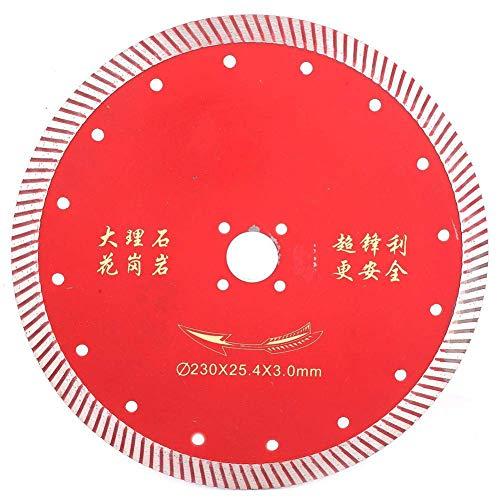 WEI-LUONG Diamond Cutting Disc, 230mm Circular Red hoja de sierra rueda de diamante de corte de la rueda por Microlite de cerámica (230 × 25,4 × 2,6 mm) Herramientas