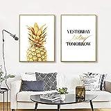 AdoDecor Abstrakte Ananas gestern Heute Morgen