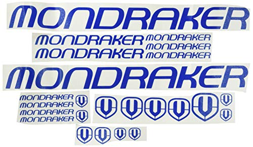 Ecoshirt VP-FU55-WN00 Aufkleber Mondraker F163 Vinyl Adesivi Decal Aufkleber-Set Links blau MTB Stickers Bike