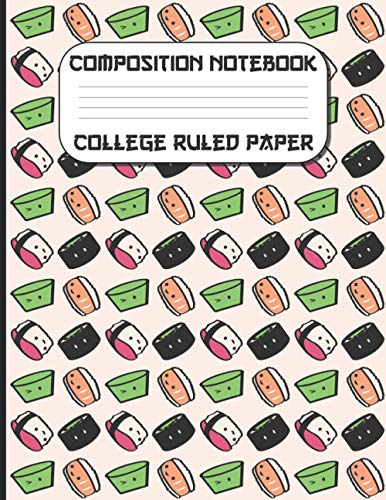 """Composition Notebook College Ruled Paper: 8.5"""" x 11"""" 