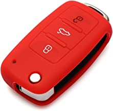 Red Silicone Soft Case Cover For VW Touareg Remote Smart Key 3 4 Buttons TORERE