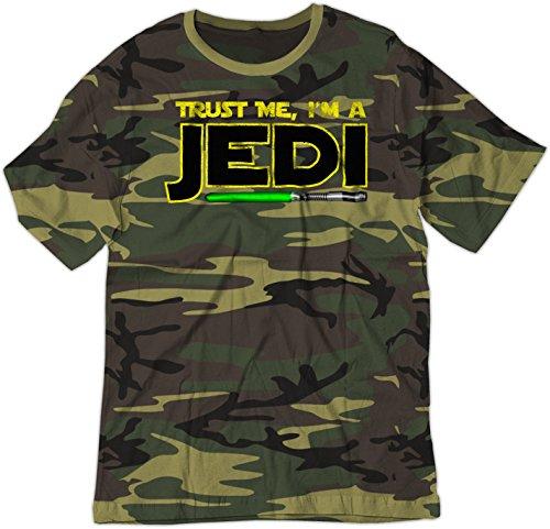 BSW Youth Parody Trust Me I'm A Jedi Star Knight Theme Shirt MED Camo
