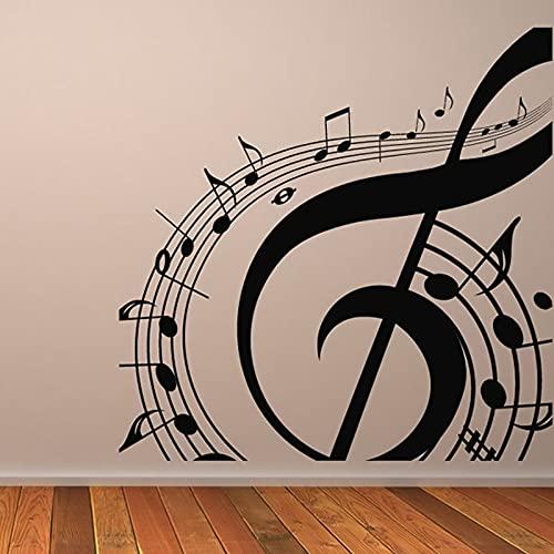 Grandes notas musicales Personal Partitura Grabación de audio Estudio Cantante Guitarra Vinilo Etiqueta de la pared Calcomanía del coche Dormitorio Sala de estar Club Oficina Decoración para
