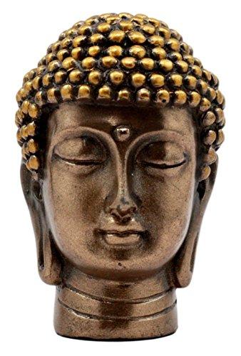 Ebros Gift Small Talisman Buddha Gautama Head Figurine 2' Tall Eastern Enlightenment Wisdom & Knowledge Symbol