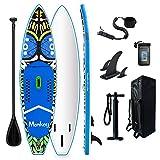 FunWater Tavola gonfiabile Stand Up Paddle Board 335 x 84 x 15 cm, accessori completi, pagaia regolabile, sacca da viaggio ISUP, borsa impermeabile, portata fino a 150 kg