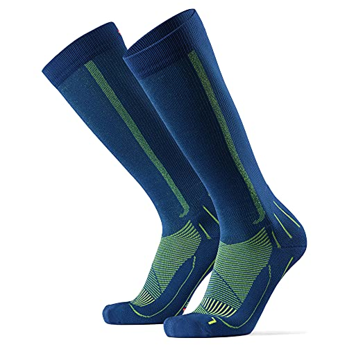 Calcetines de Compresión 1 par (Azul/Amarillo neón, EU 39-42)
