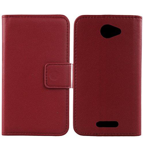 Gukas Echt Leder Tasche Für Alcatel One Touch Pop 4S 5.5