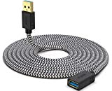 USB 3.0 Extension Cable 3ft, VCZHS Durable Braided USB 3.0 Extension Cable - A-Male to A-Female for USB Flash Drive, Card Reader, Hard Drive, Keyboard,Mouse,Playstation, Xbox, Printer, Camera