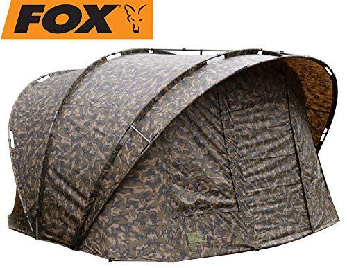Fox R-Series XL 2 Man inc Inner Dome 315x330x185cm camo - Angelzelt zum Karpfenangeln & Wallerangeln, Karpfenzelt, Zelt für Angler