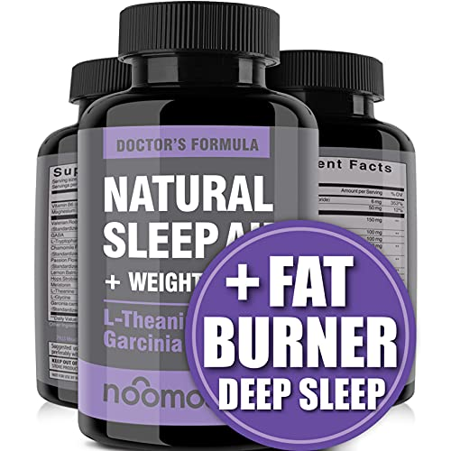 Natural Sleep Aid / Sleeping Pills (Natural Sleep Aids for Adults Extra Strength) as Night Time Fat Burner w/ Garcinia Cambogia, Magnesium, Melatonin Theanine, Valerian Root & Lemon Balm – Vegan Caps