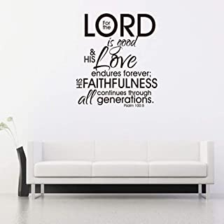 Garneck Wall Saying Decoration Christian Peel and Stick DIY Psalm 100:5 Wall Decals Wall Stickers 1pc