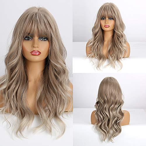 comprar pelucas grises largas online