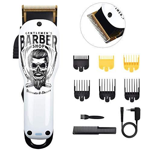 BESTBOMG Haarschneidemaschine Profi Graffiti Haarschneider Herren Haartrimmer Bartschneider Barttrimmer Präzisionstrimmer Langhaarschneider Männer mit 2000mAh Akku (Y4)