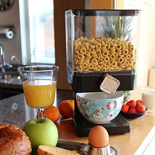 Dispensador de cereales hermético Enyaa con bandeja integrada, con diseño...