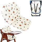 Cojín de la silla alta, Amcho Cochecito de bebé/Trona/Cojín del asiento de coche Película protectora Respirable Cojín de la silla alta (Estrella doble)