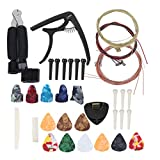Kit de accesorios de guitarra duraderos Kit de herramientas de guitarra ligero profesional, para banjos, para ukeleles, para guitarras eléctricas