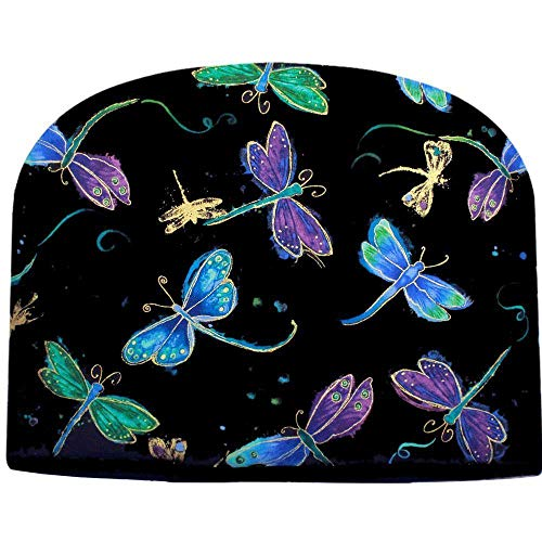Blue Moon Tea Cozy Dragonfly at Night Tea Cozy Double Insulated Teapot Cozy Keeps Tea Cosie - Ships The Same Business Day, Order by 10 AM Pacific Time