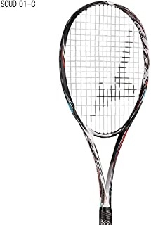 ミズノ/MIZUNO スカッド01-C+ミクロパワー張り上げ 63JTN05462+SS401MW 軟式テニスラケット ソフトテニスラケット 前衛向 2020年3月発売