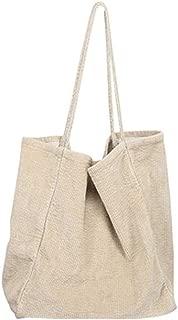 YESWOMAN Ladies Corduroy Canvas Bag Fashion Shoulder Bag Large Capacity Casual Portable Tote Durable Shopping Packs