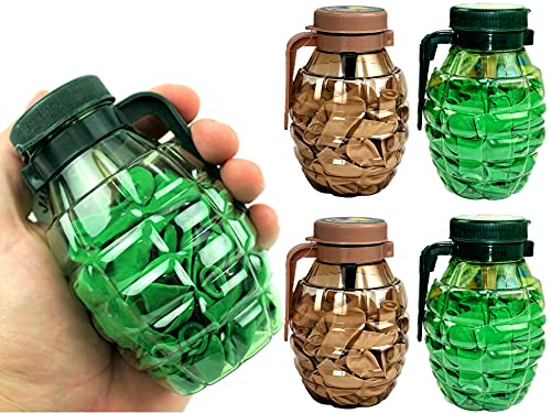 Water Balloons Grenade Style. with Quick Filler Nozzle (4 Units Assorted) By JA-RU. Summer Outdoor Toy Grenade Filled with Water Balloons 75 Each. Great Pool Toys. Latex Later Bomb Balloons. 182-4