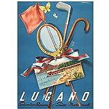 Jhmjqx Schweiz Tessin Tourismus Poster Lugano Sportreisen