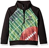 NFL Las Vegas Raiders Unisex 1/4 Zip Shirt, Black, 4T