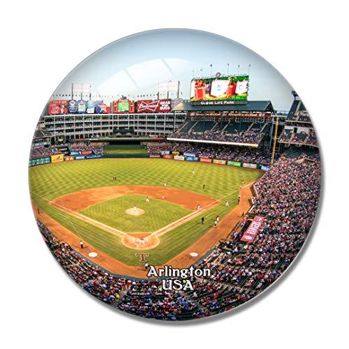 USA Amerika Arlington Baseball Field Globe Life Park 3D Kühlschrank Magnet Whiteboard Magnet Souvenir Kristallglas
