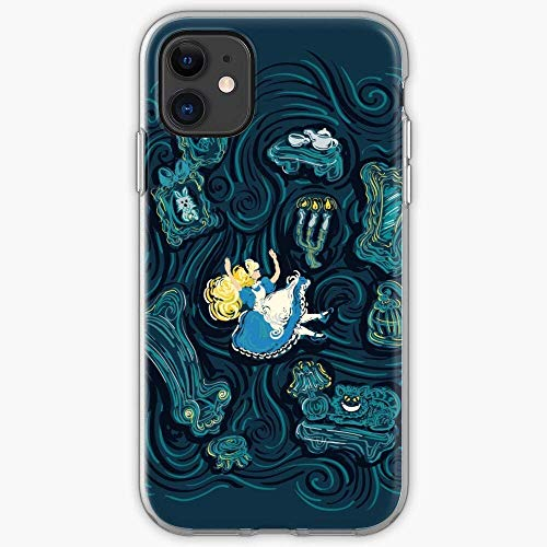 Compatibile con iPhone 12/11 Pro Max 12 mini SE X/XS Max XR 8 7 6 6s Plus Custodie Mad Van Alice Wonderland Gogh Impressionist White Rabbit Cat Hatter Cheshire in Custodie per Telefoni Cover