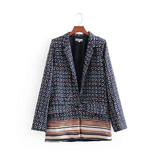 Conjunto de chaqueta de manga larga para mujer, otoño, con estampado informal, traje pequeño + pantalones de cintura alta ancha, elegante de dos piezas 2 L