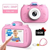 💕【28MP high pixels &1080p HD video 】28MP high pixels and 1080p HD video make the photo clearer and children fall in love with taking pictures, so they can be used to record the beautiful world in their eyes.Note: The rear lens of the camera has a wid...