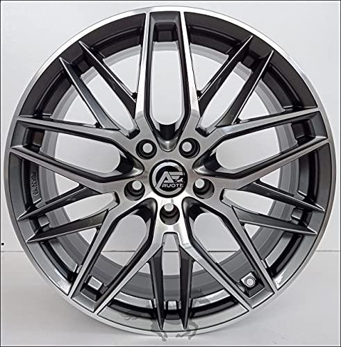 1 AF19 Llantas de Aleación NAD 8 18 5X112 45 66,5 Compatible Con Volkswagen Golf 5 6 7 8 T-Roc Hecho en Italia