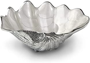 Julia Knight Tahitian Clam Shell Bowl, 8-Inch, Snow, White