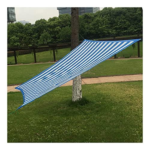 WZHIJUN 90% Bloqueador Solar Paño de Sombra Exterior Terraza Jardín Césped Anti-UV Red de Sombra (Color : Blue/White, Size...