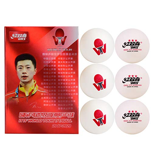 Sale!! DHS ABS D40+ 3 - Star ITTF World T.T. Table Tennis Ball, White, 6 Balls/Box (10 Box 6 Balls)