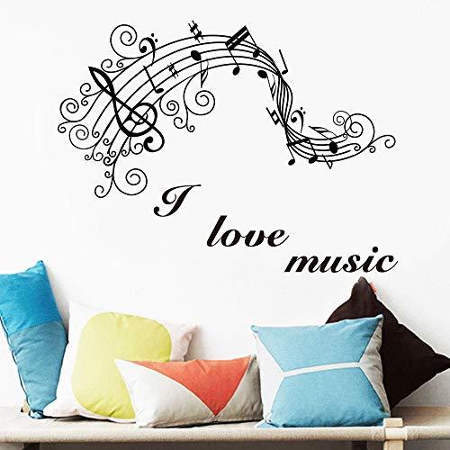 JXFM Jugendstil muzieknoot muursticker slaapkamer decoratie muziekkamer decoratie huis sticker muurschilder behang muursticker