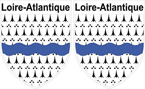 2 x Wappen Loire Atlantique Aufkleber 4 x 5 cm Département 44 ECUSSON