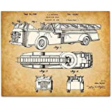 1930s Fire Truck - 11x14 Unframed Patent Print - Makes a Great Gift Under 15 for Firefighters